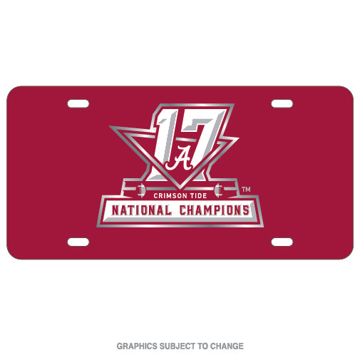 Alabama Crimson Tide National Champions Crystal Mirror License Plate - Star Spangled LLC