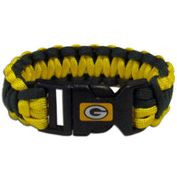 Green Bay Packers NFL Football Team Paracord Survival Bracelet - Star Spangled 1776