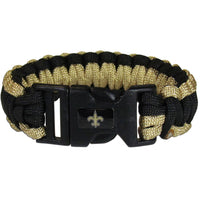 New Orleans Saints NFL Football Team Paracord Survival Bracelet - Star Spangled 1776