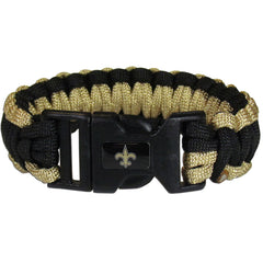 New Orleans Saints NFL Football Team Paracord Survival Bracelet