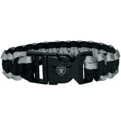 Oakland Raiders NFL Football Team Paracord Survival Bracelet
