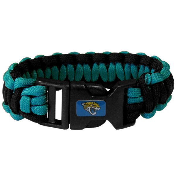 Jacksonville Jaguars NFL Football Team Paracord Survival Bracelet - Star Spangled 1776