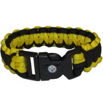 Pittsburgh Steelers NFL Football Team Paracord Survival Bracelet - Star Spangled 1776