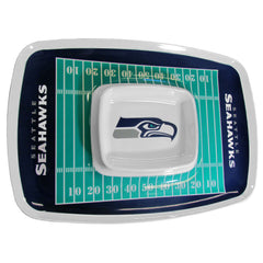 Seattle Seahawks NFL Football Team Chip and Dip Tray