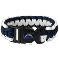 San Diego Chargers NFL Football Team Paracord Survival Bracelet - Star Spangled 1776