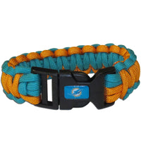 Miami Dolphins NFL Football Team Paracord Survival Bracelet - Star Spangled 1776