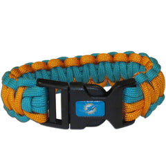 Miami Dolphins NFL Football Team Paracord Survival Bracelet