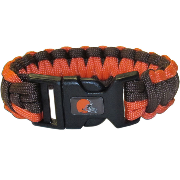 Cleveland Browns NFL Football Team Paracord Survival Bracelet - Star Spangled 1776