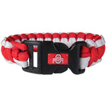 Ohio St. Buckeyes NCAA Football Team Paracord Survival Bracelet - Star Spangled 1776
