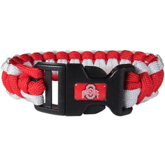 Ohio St. Buckeyes NCAA Football Team Paracord Survival Bracelet