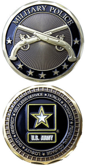 US Army Military Police Insignia Army Challenge Coin - Star Spangled 1776