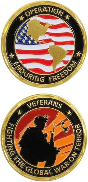 Operation Enduring Freedom Military Challenge Coin - Star Spangled 1776
