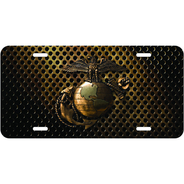 Marine Corps Eagle Globe & Anchor 6 X 12 Metal License Plate - Star Spangled 1776
