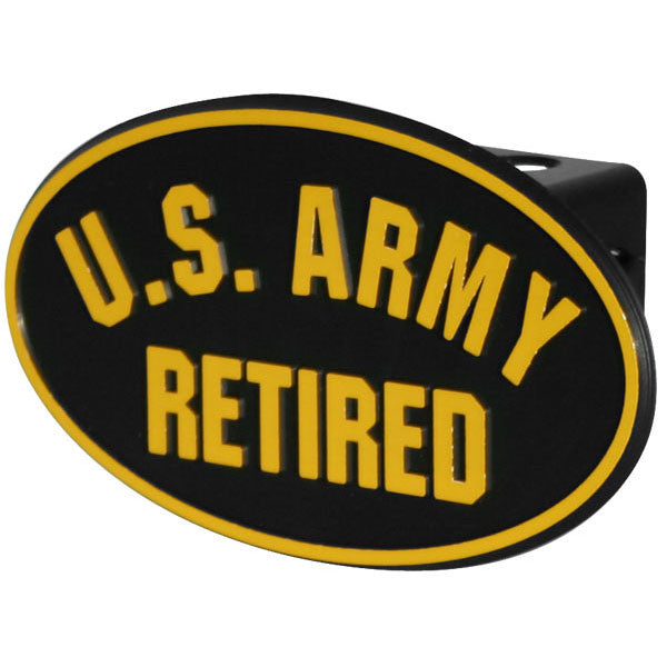 U.S. Army Retired Military Trailer Hitch Cover - Star Spangled 1776