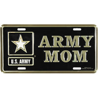 U.S. Army Mom 6 X 12 Metal Military Army License Plate - Star Spangled 1776