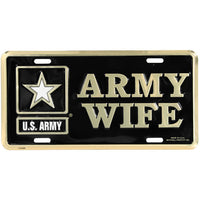 U.S. Army Wife 6 X 12 Metal Military Army License Plate - Star Spangled 1776