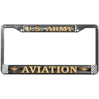 Army US Army Aviation Chrome Metal License Plate Frame - Star Spangled 1776