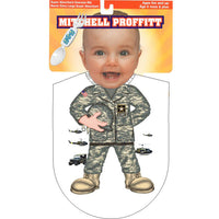Army Camo Baby Bib Fork and Spoon Military Gift Pack - Star Spangled 1776