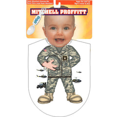 Army Camo Baby Bib Fork and Spoon Military Gift Pack