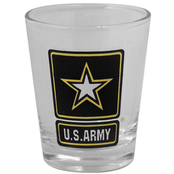 Shot Glass- Clear with Army Star Logo - Star Spangled 1776