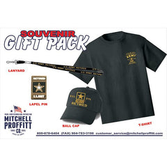 U.S. Army Retired T-Shirt & Baseball Cap Gift Pack