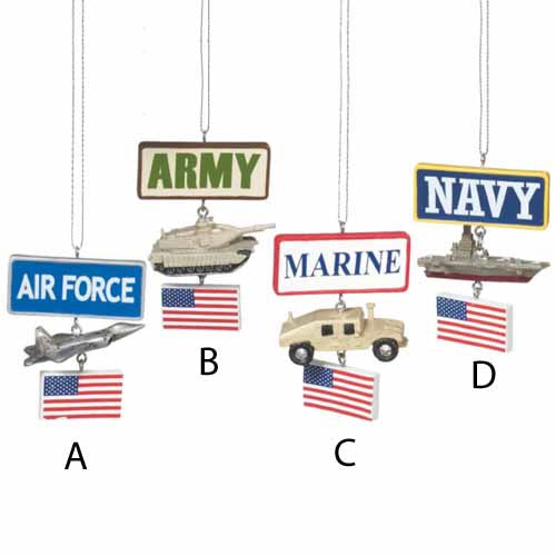 USMC Vehicle Military Christmas Ornament - Star Spangled 1776