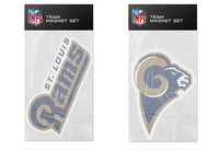 St. Louis Rams NFL Football 2 Piece Team Magnet Set - Star Spangled 1776