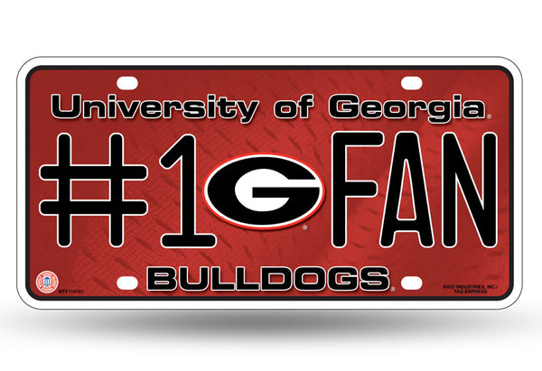 Georgia Bulldogs 6 X 12 #1 Fan NCAA License Plate - Star Spangled 1776