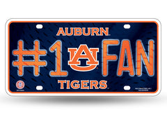 Auburn Tigers 6 X 12 #1 Fan NCAA License Plate