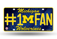 Michigan Wolverines 6 X 12 #1 Fan NCAA License Plate - Star Spangled 1776