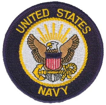 United States Navy Round Embroidered Patch 3