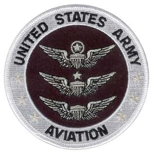 "United States Army Aviation Round Embroidered Patch (3.5"") - Star Spangled 1776"
