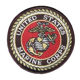 "USMC Seal Embroided Round Patch (3"") - Star Spangled 1776"