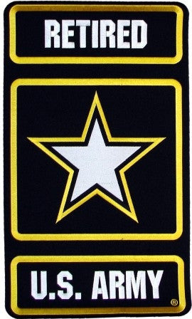 "U.S. Army Retired Large Jacket Patch (11"")[DX12] - Star Spangled 1776"