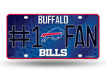 Buffalo Bills 6 X 12 Metal #1 Fan NFL License Plate - Star Spangled 1776