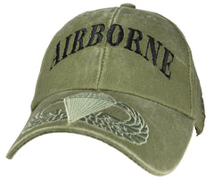 Airborne OD Embroidered Military Baseball Cap