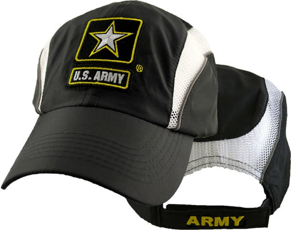 U.S. Army Black and White Performance Baseball Cap - Star Spangled 1776