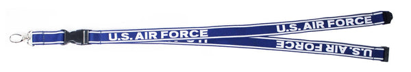 Air Force Embroidered Lanyard with Detachable Key Chain - Star Spangled 1776