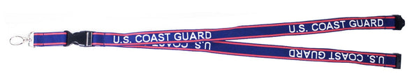 Coast Guard Embroidered Lanyard with Detachable Key Chain - Star Spangled 1776