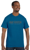 Army Aviation Fort Rucker T-Shirt- Antique Sapphire - Star Spangled 1776