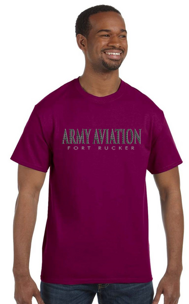 Army Aviation Fort Rucker T-Shirt- Berry - Star Spangled 1776