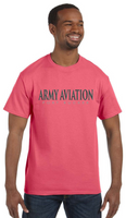 Army Aviation Fort Rucker T-Shirt- Coral Silk - Star Spangled 1776