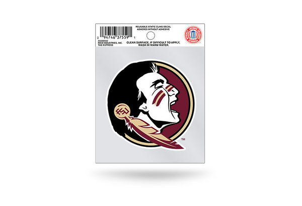 Florida State Seminoles NCAA Football Team 3.5 X 3.75 Small Re-usable Static Cling Decal - Star Spangled 1776