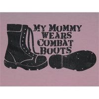 My Mommy Wears Combat Boots Youth T-Shirt - Star Spangled 1776