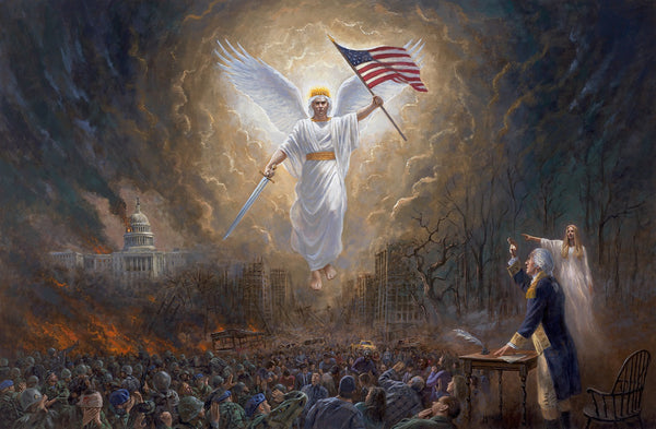 Angel of Liberty Lithograph by Jon McNaughton- 16 X 24 OE - Star Spangled 1776
