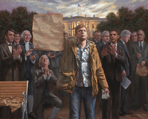 The Empowered Man Lithograph by Jon McNaughton - Star Spangled 1776