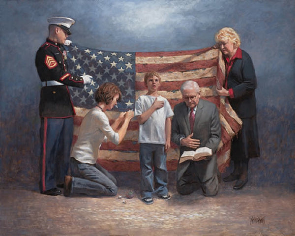 Mending The Nation Lithograph by Jon McNaughton - Star Spangled 1776