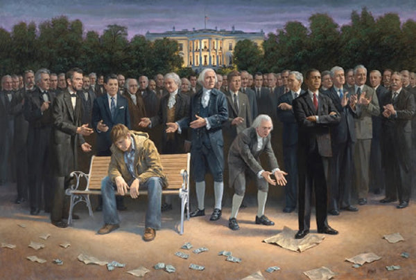 The Forgotten Man Lithograph by Jon McNaughton - Star Spangled 1776