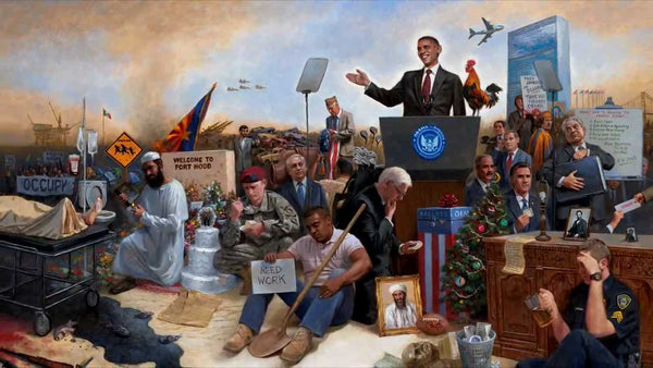Obamanation Lithograph by Jon McNaughton - Star Spangled 1776