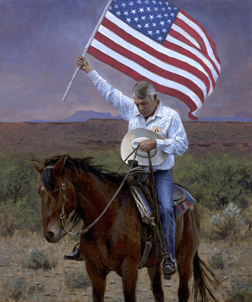 Pray for America Lithograph by Jon McNaughton - Star Spangled 1776